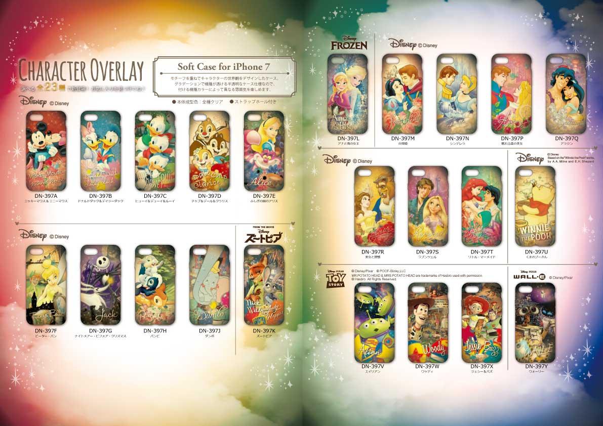 ディズニーキャラクター / キャラクターオーバーレイシリーズ iPhone7対応 ソフトケース